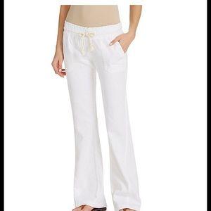 Roxy Oceanside Linen-Blend Wide Leg Pants